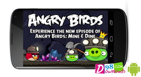بازی اندروید Angry Birds: Mine and Dine